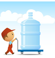 water delivery man vector image vector image