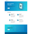 website template layout for security landing page vector image