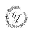 wedding wreath element vector image vector image