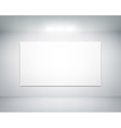 white wall on which shines a flashlight vector image vector image