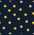 yellow star seamless pattern on black vector image vector image