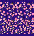 cherry blossoms with the branches pattern vector image