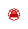 firefighter helmet logo vector image