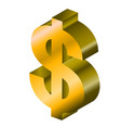 3d model of a money symbol vector image vector image