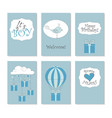 6 printable birthday cards vector image vector image