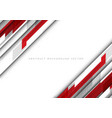 abstract red grey polygon on white blank space vector image vector image