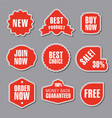 advertising red stickers vector image vector image