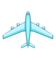 Airliner icon cartoon style vector image vector image