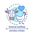 animal welfare care concept icon voluntary vector image vector image