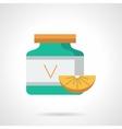 Ascorbic acid flat color icon vector image