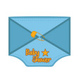 baby shower label with message shape vector image