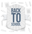Back to School paper Badge vector image vector image