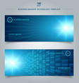 banner web template abstract technology concept vector image vector image
