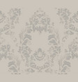 baroque pattern royal fabric background vector image vector image