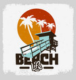 beach life lifeguard tower station beach rescue vector image