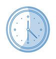 blue shading silhouette cartoon analog wall clock vector image