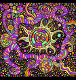 bright abstract psychedelic background vector image vector image