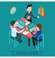 Business Meeting and Teamworking vector image
