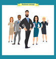 business people teamwork business team vector image vector image