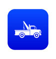car towing truck icon digital blue vector image vector image