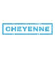 Cheyenne Rubber Stamp vector image vector image