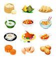 chinese food icons vector image vector image