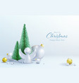 christmas and new year background elements vector image