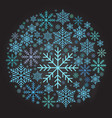 christmas ball made from snowflakes vector image vector image