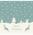 Christmas card retro eps10 vector image vector image