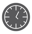 clock glyph icon time and dial watch sign vector image vector image