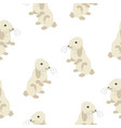 cute seamless pattern with bunny on back feet vector image vector image