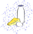 dairy vector image vector image