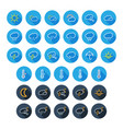 dark and light weather flat icon set long shadow vector image
