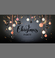 dark beautiful christmas balls vector image vector image