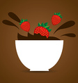 delicious chocolate vector image vector image