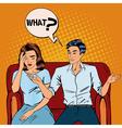 Dispute Between Man and Woman Home Quarrel vector image