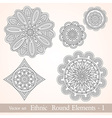 Ethnic vintage design elements vector image