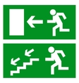 Exit sign vector image vector image