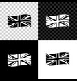flag great britain icon isolated on black vector image vector image