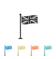 flag of great britain on flagpole icon uk flag vector image