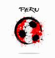 flag of peru as an abstract soccer ball vector image vector image