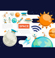 flat space colorful composition vector image vector image