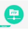 ftp icon sign symbol vector image vector image