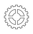 gear cog circle design vector image vector image
