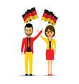 german flag waving man and woman vector image