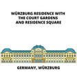 germany wurzburg residence line icon concept vector image vector image