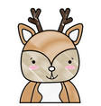 grated adorable and happy deer wild animal vector image vector image