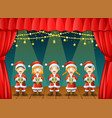 group of children singing christmas carols on the vector image vector image