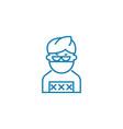 hacker linear icon concept hacker line vector image