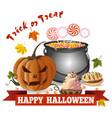 halloween design trick or treat vector image vector image